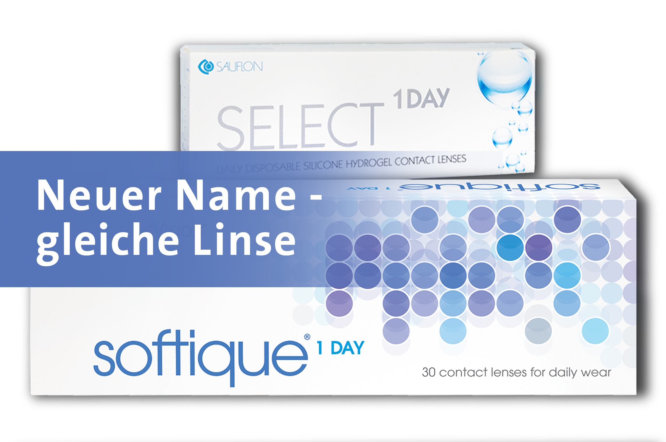 NEUE VERPACKUNG: Select. 1 Day ist jetzt Softique 1 Day