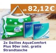 DAILIES AquaComfort Plus 90: 2 Boxen