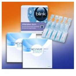 1-Day Acuvue TruEye 90: 2 Boxen + Blink Contacts 20x 0,35ml Amp.