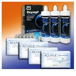 Acuvue Oasys 6er: 4 Boxen + Oxysept Comfort 3-Monats Pack